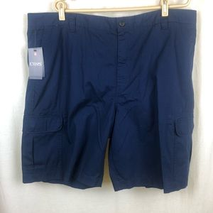 Chaps Mens 44 XXL Cargo Shorts Blue Cotton Ripstop